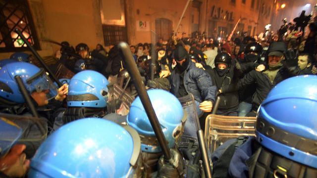 No Tav tensioni e scontri a Roma