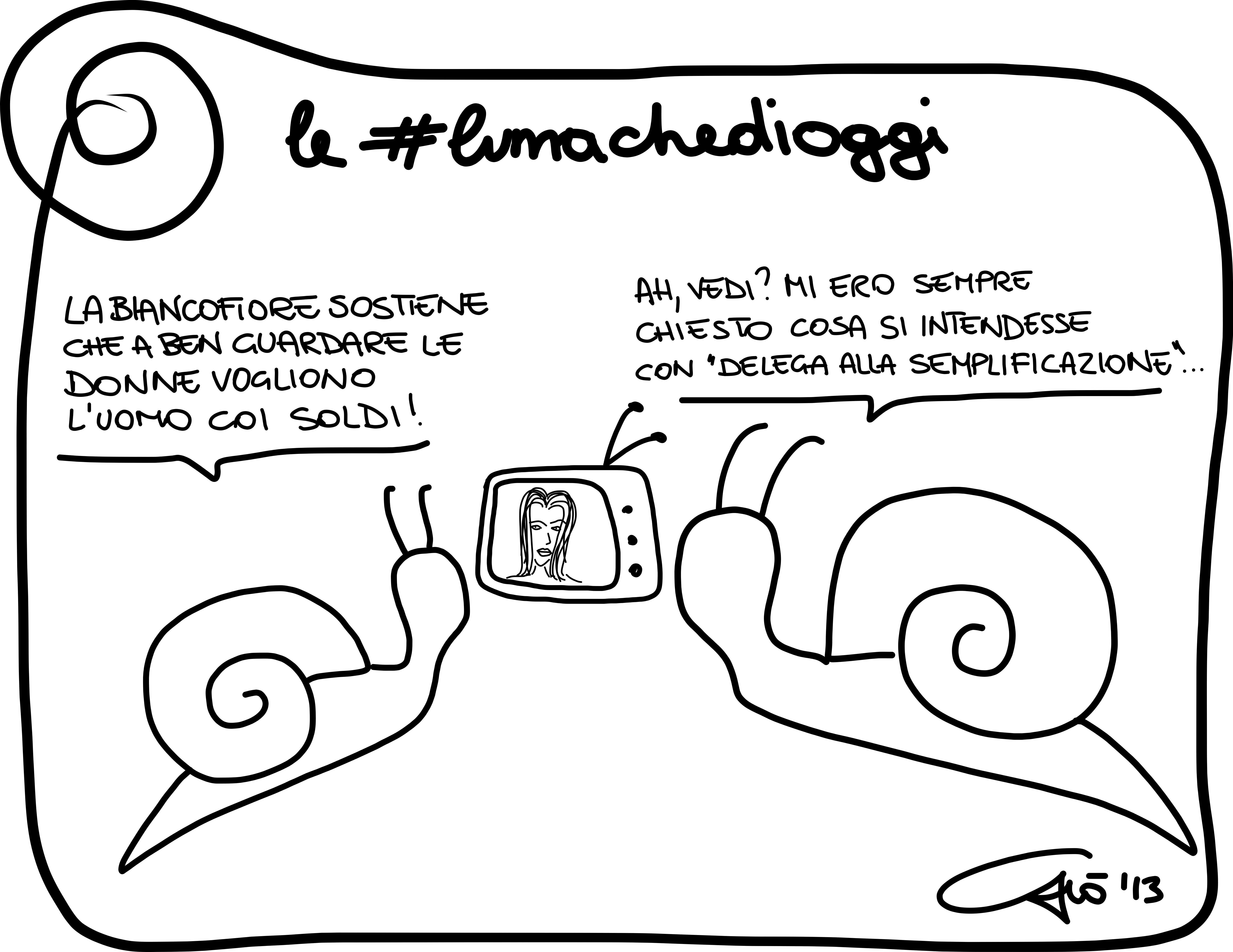 Le #lumachedioggi: semplificazione.