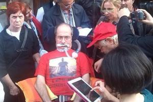 Protesta dei malati di Sla