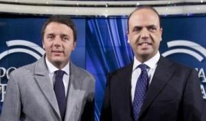 Alfano e Renzi legge elettorale