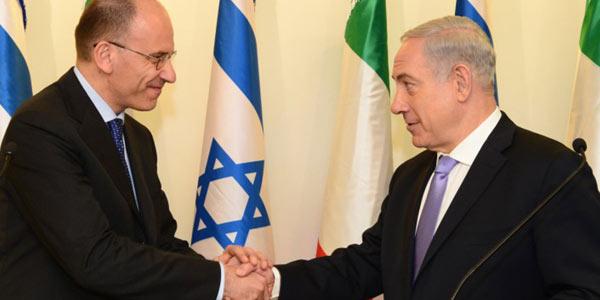 """Letta-Netanyahu: """"Italia e Israele nella stessa culla"""""""