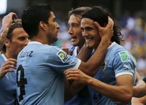 La coppia d'attacco dell'Uruguay è composta da Suarez e da Cavani