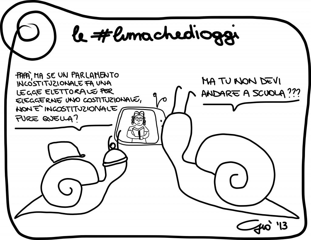 Le #lumachedioggi: incostituzionalità.