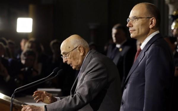 Verifica Parlamentare, Letta da Napolitano