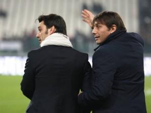 Montella e Conte a braccetto, improbabile che la scena si ripeta ad inizio marzo.