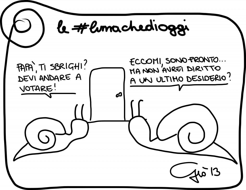 #lumachedioggi di Giovanni Laccetti dell'8.12.2013