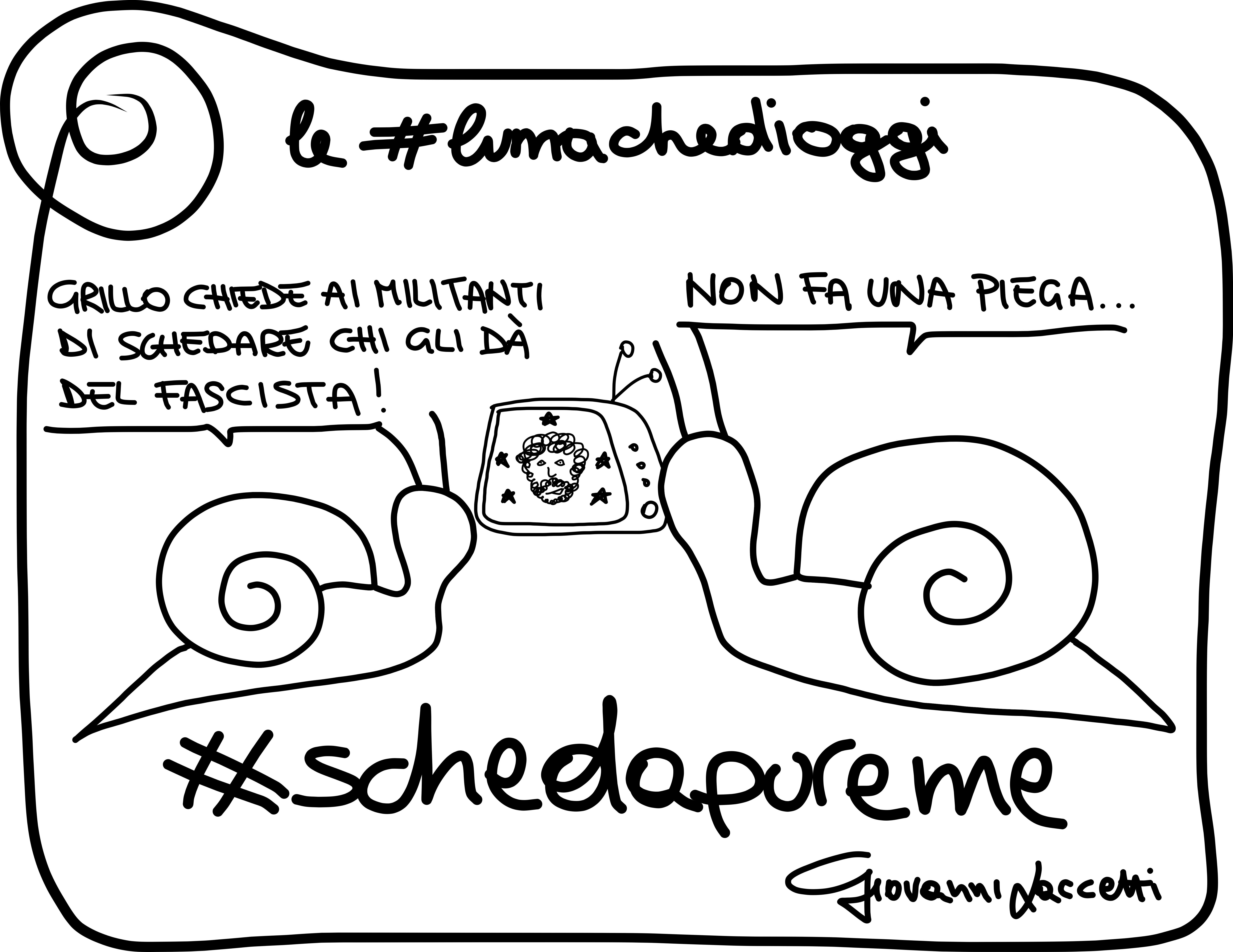 #lumachedioggi di Giovanni Laccetti. E mo #schedapureme