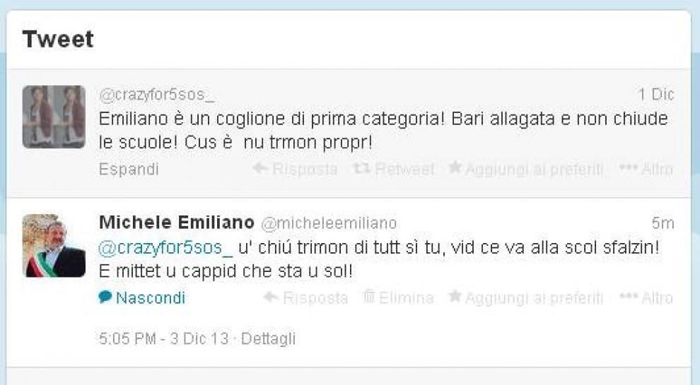 Emiliano e la sfuriata su Twitter che entusiasma il web