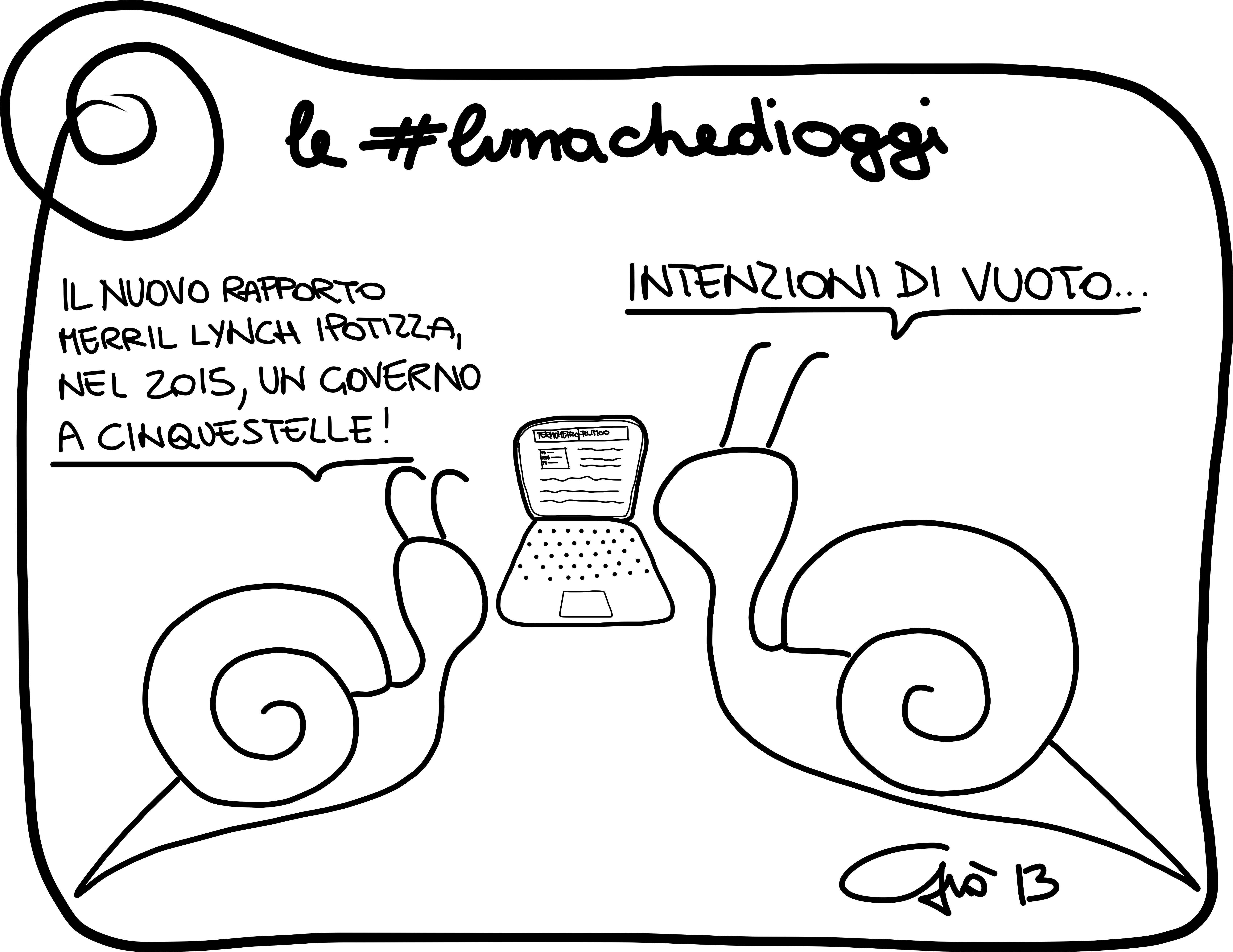 #lumachedioggi di Giovanni Laccetti del 18.12.2013