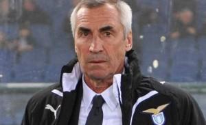 Il tecnico della Lazio Edy Reja