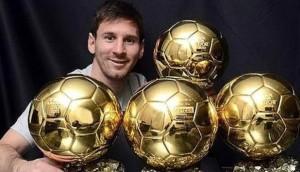 Messi è l'unico ad aver vinto quattro edizioni del Pallone d'Oro nella storia del calcio.