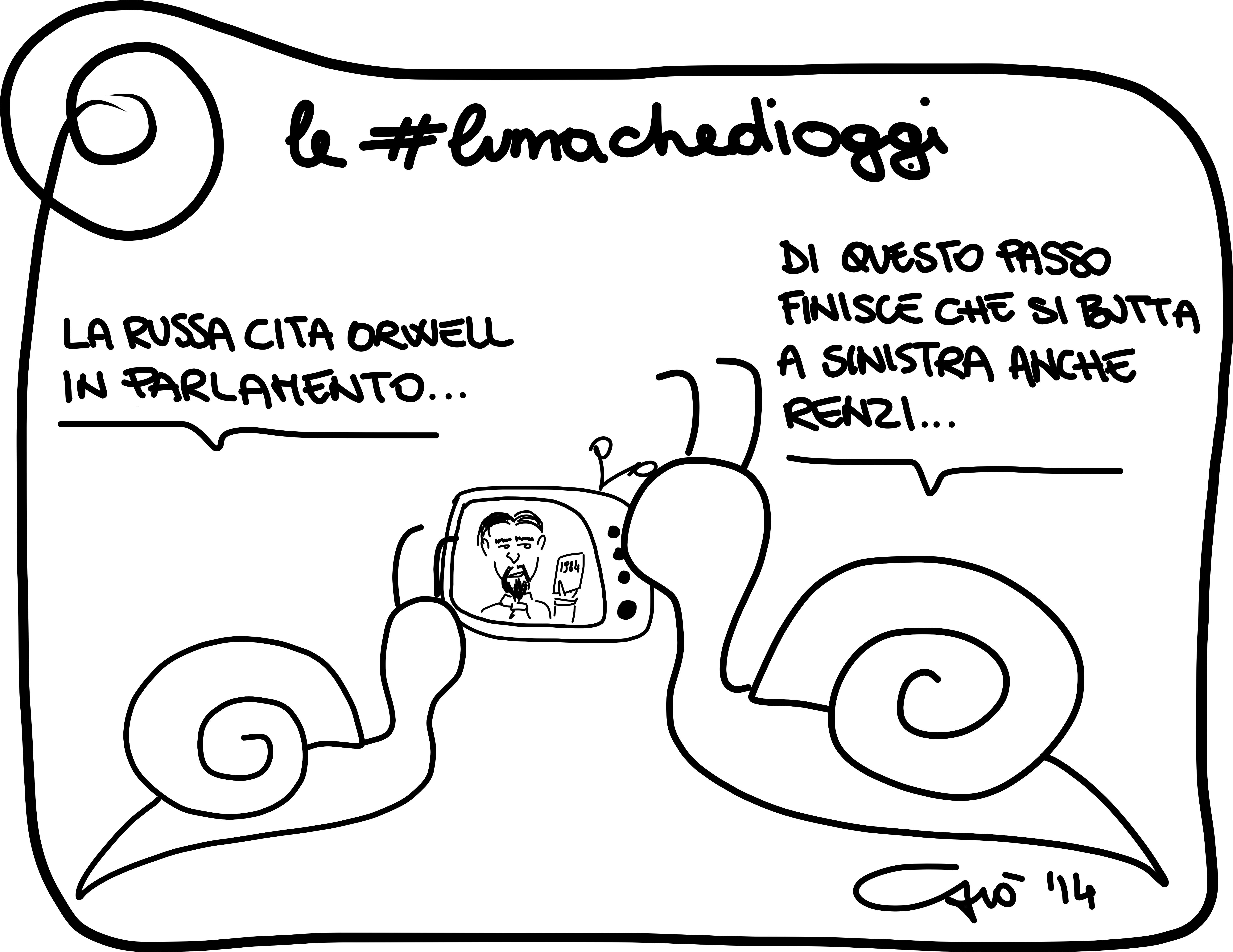 Le #lumachedioggi: orwell