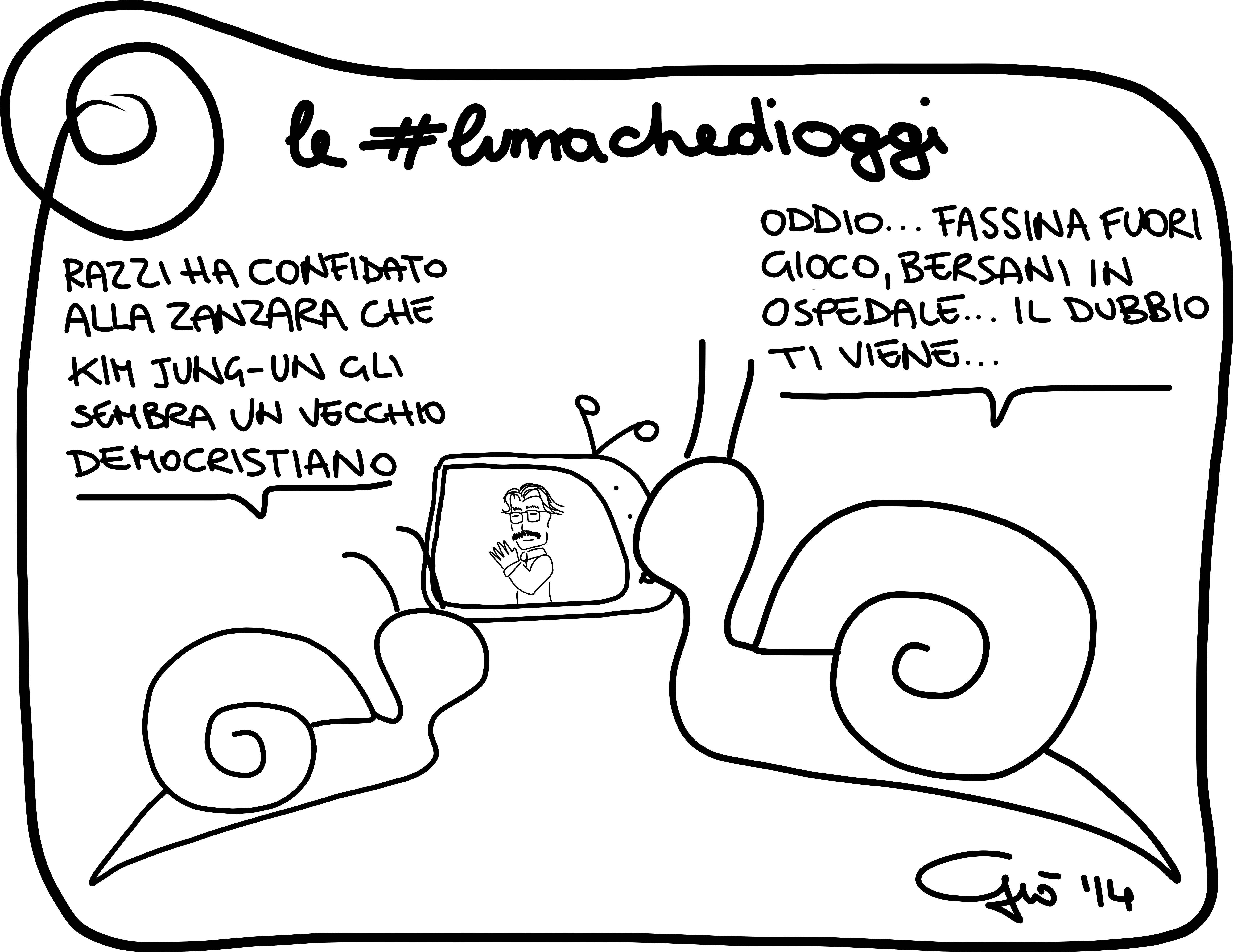 #lumachedioggi di Giovanni Laccetti del 9.1.2014