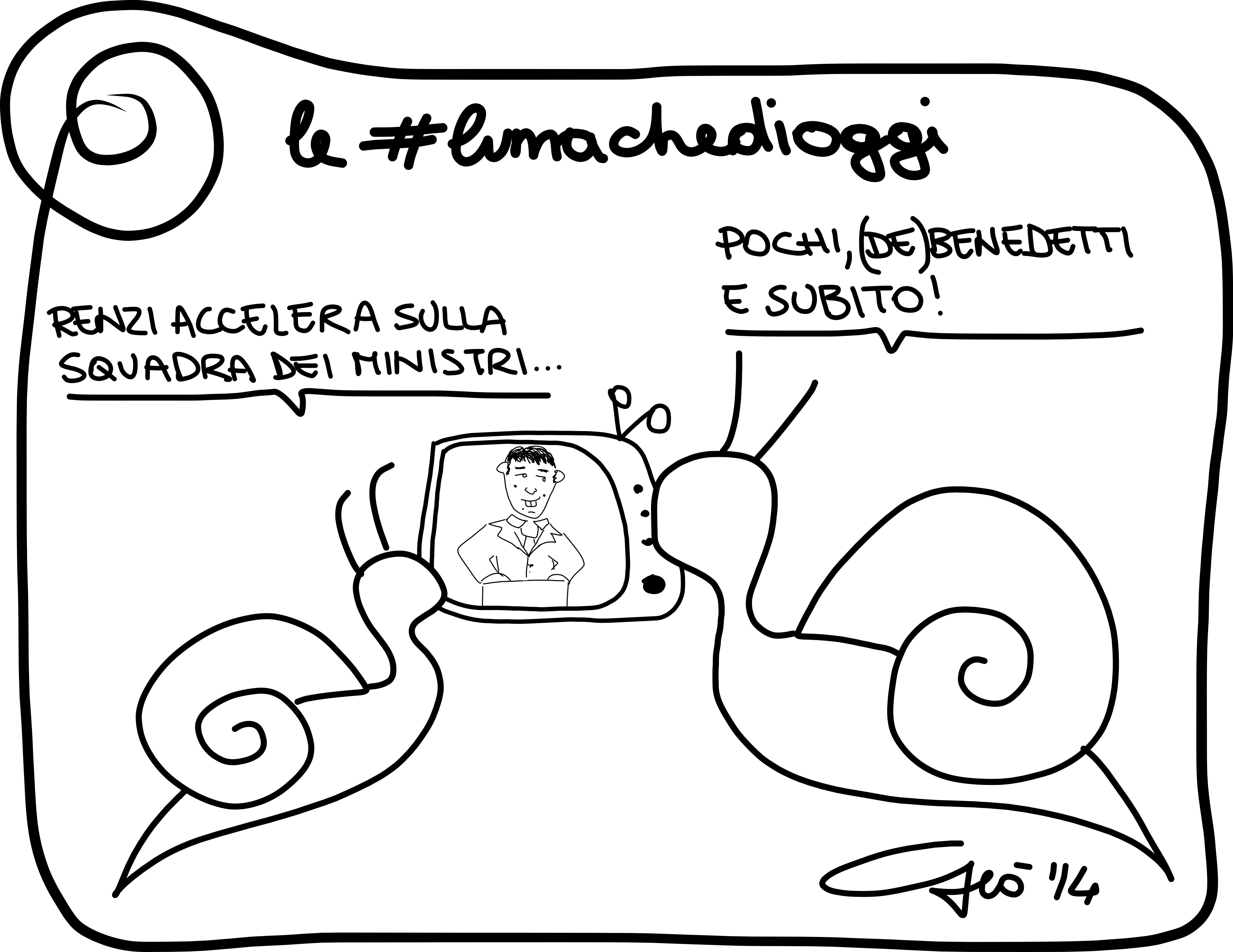 #lumachedioggi di Giovanni Laccetti del 21.2.2014