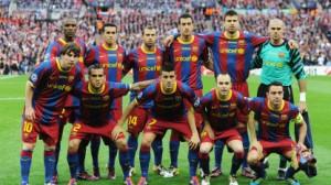 Il Barcellona, attualmente al primo posto nel ranking UEFA