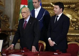primo giorno del governo renzi giuramento ministri brindisi e primo cdm