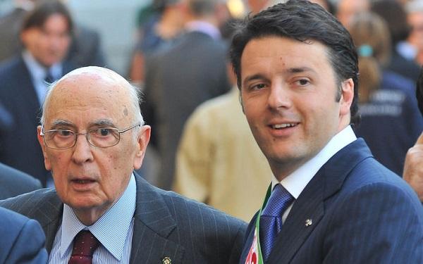 Consultazioni, Napolitano e Renzi al lavoro