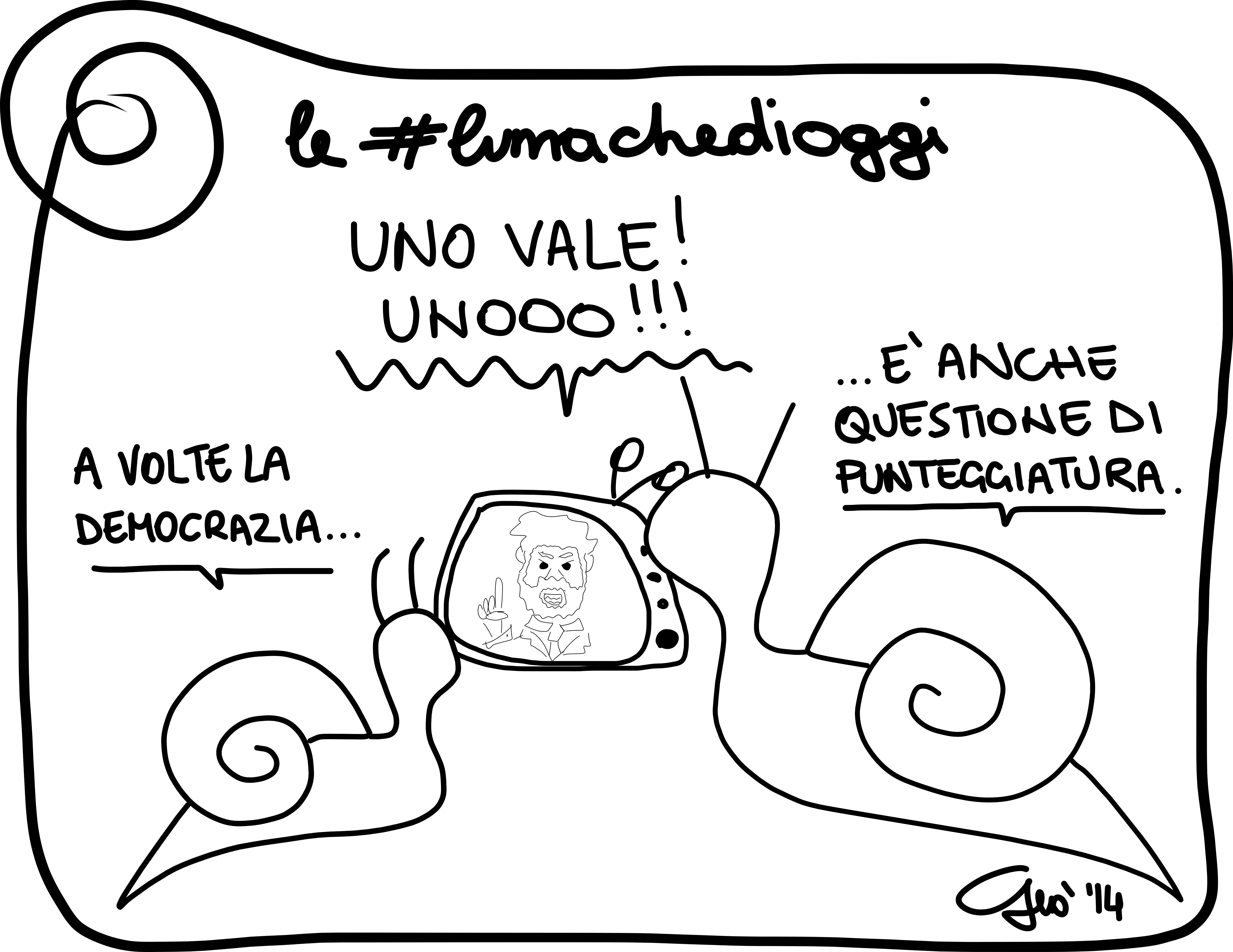 #lumachedioggi di Giovanni Laccetti del 20.2.2014