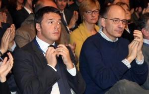 Matteo Renzi ed il suo precedessore, Enrico Letta
