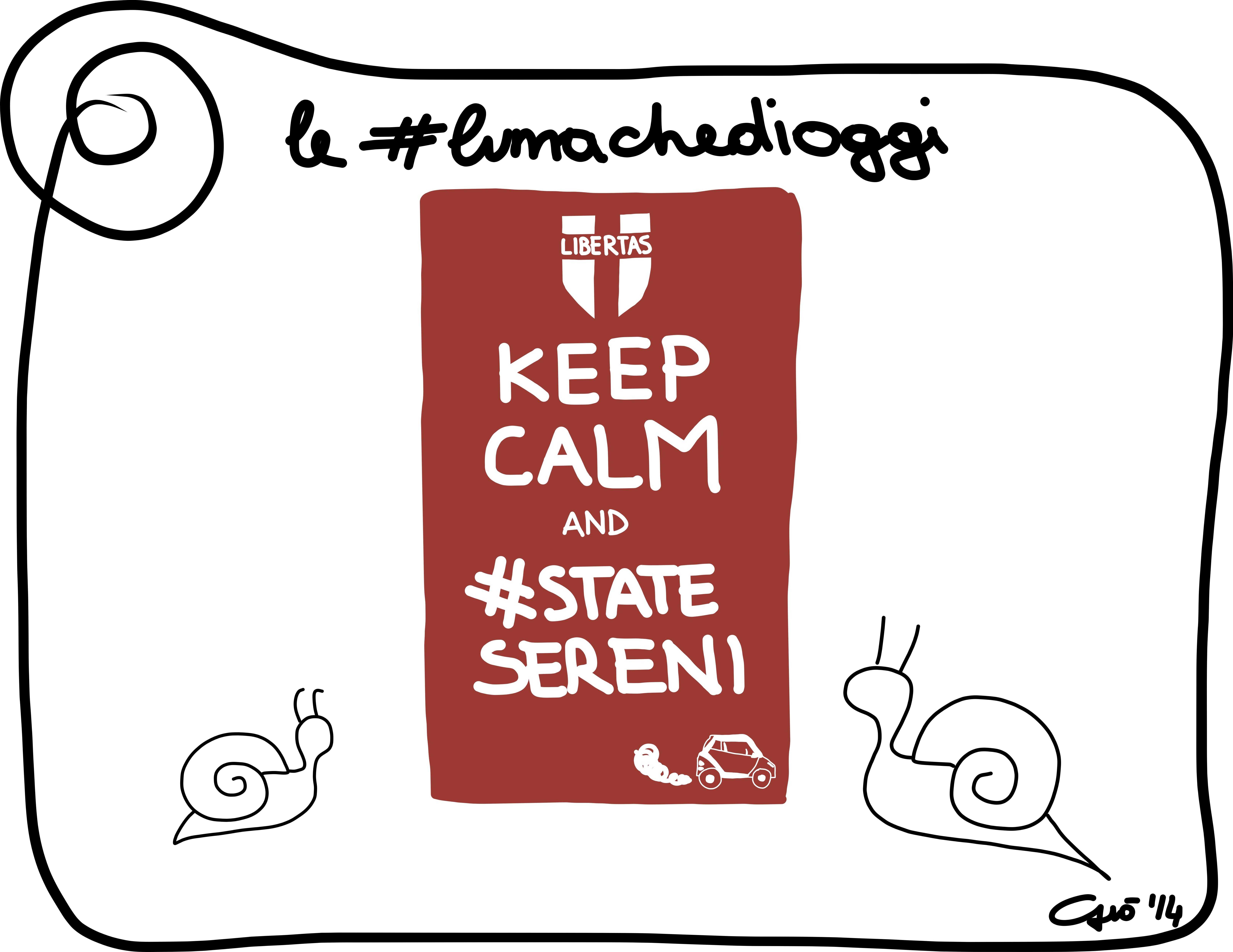 Le #lumachedioggi: #statesereni