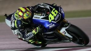 Rossi durante il MotoGP del Qatar nel 2013.