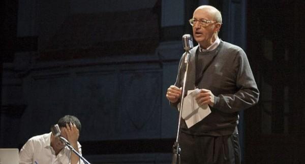 in foto il professor d'alimonte ed il premier renzi durante una edizione della Leopolda