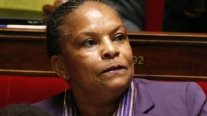 French Justice Minister Christiane Taubira attends the questions to the government session at the National Assembly in Paris