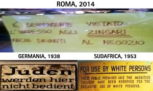 La fotografia del cartello pubblicata sul sito dell'Associazione 21 Luglio