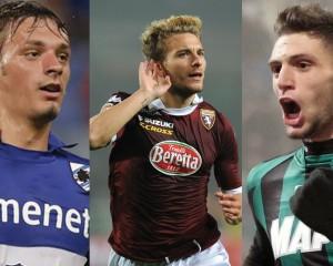 Gabbiadini (Sampdoria), Immobile (Torino) e Berardi (Sassuolo). Tre attaccanti per il futuro della nazionale