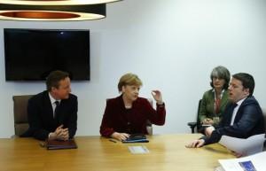 Immagine di un precedente incontro Merkel-Renzi