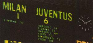 Il tabellone del Meazza così recitava il 6 aprile del '97