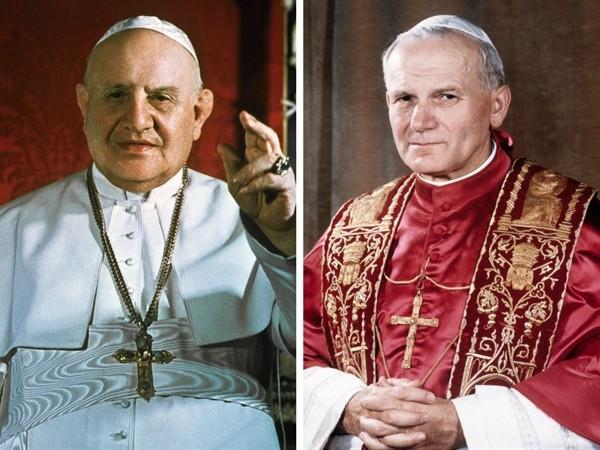 giovanni paolo II e giovanni XXIII santi canonizzazione