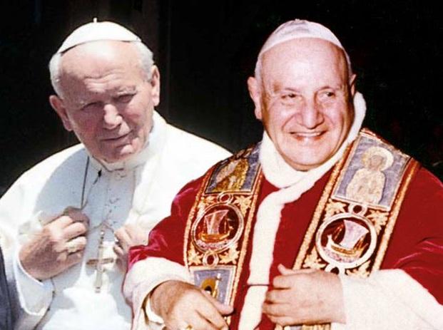 giovanni XXIII e giovanni paolo II canonizzazione santi