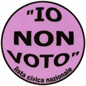 'Io non voto' Lista civica nazionale