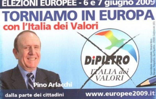 Pino Arlacchi ex IDV ora PD