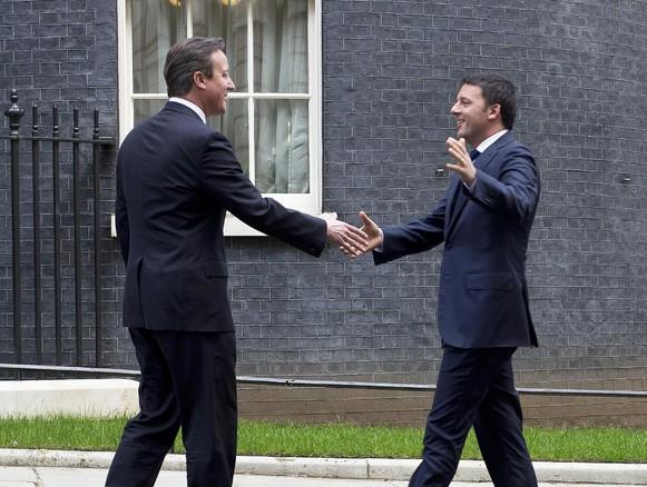 renzi cameron incontro tra i due primi ministri a londra
