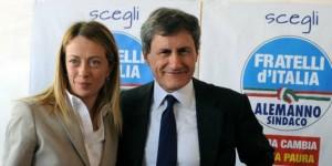 Giorgia Meloni Gianni Alemanno Fratelli d'Italia