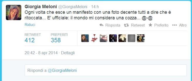 meloni twitter