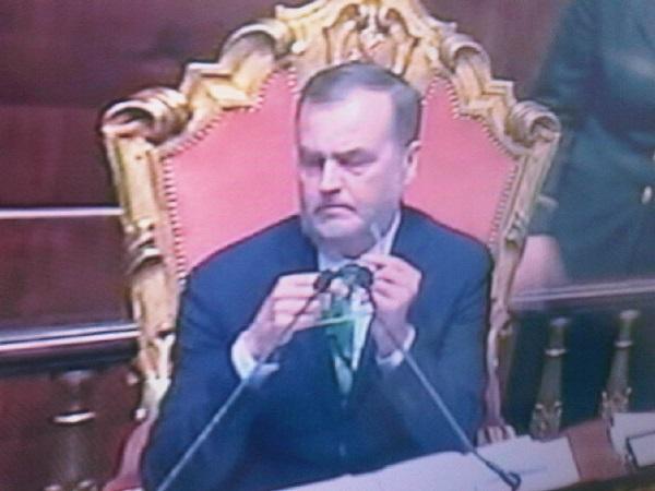 diretta della seduta del senato