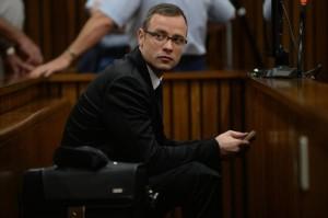 Pistorius durante il processo