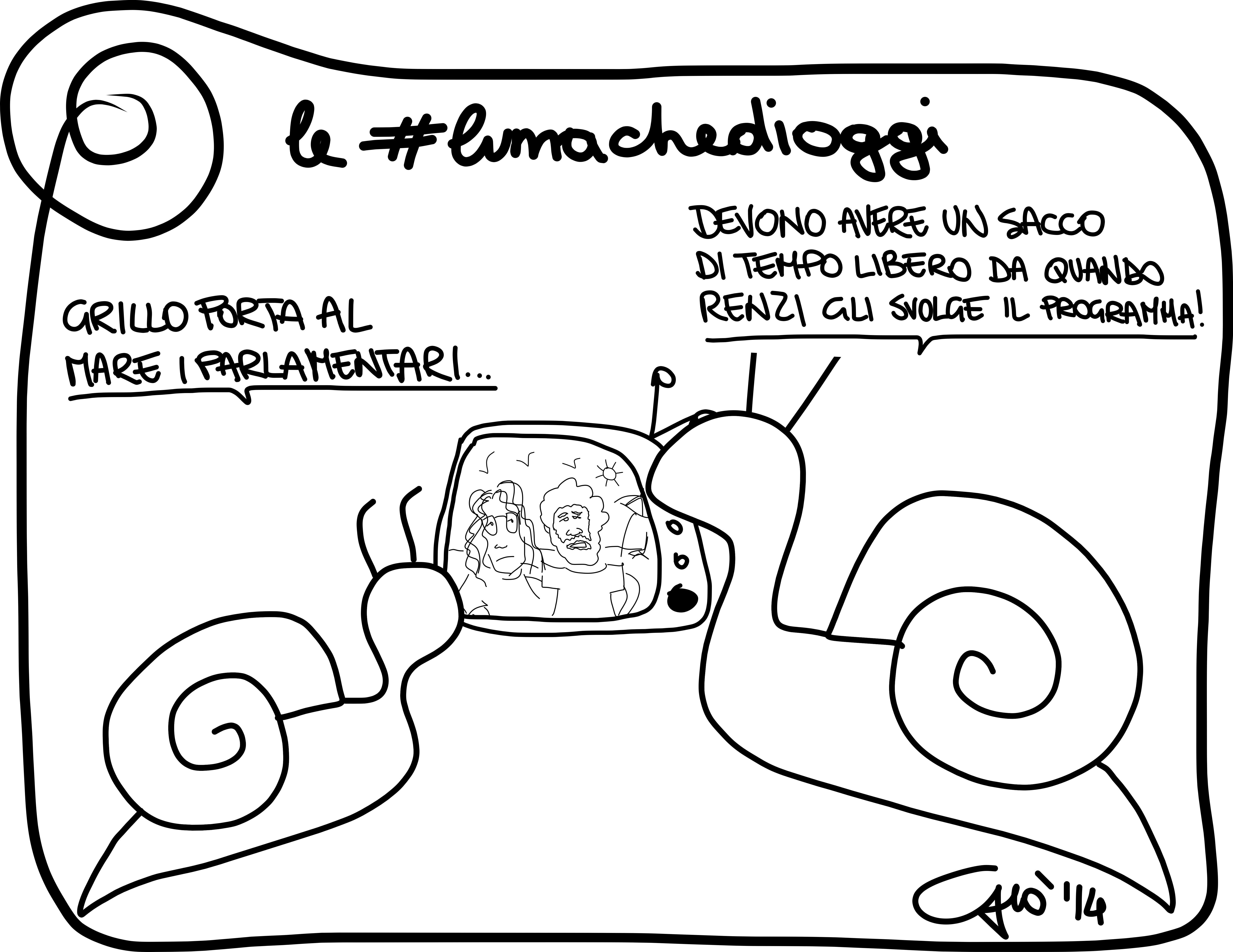 #lumachedioggi di Giovanni Laccetti del 1.4.2014