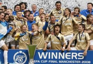 Lo Zenit di San Pietroburgo ha vinto la Coppa Uefa nel 2008