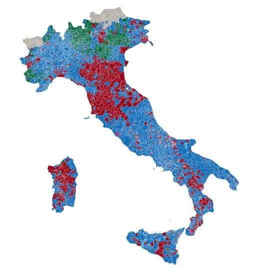 Mappa italia europee
