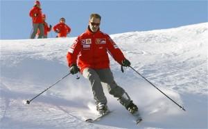 Michael Schumacher sugli sci