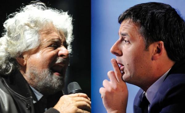 Social Network, Renzi e Grillo si contendono la leadership (anche) in Rete