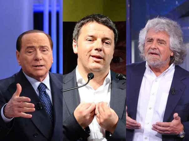 grillo renzi berlusconi, sondaggi elettorali 17 gennaio