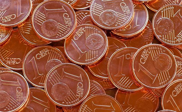 monetine da 1 e 2 cent