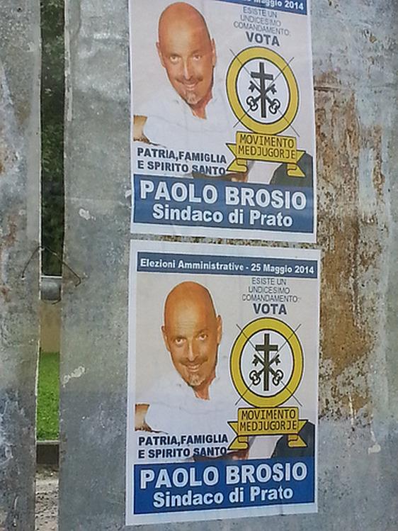 paolo brosio candidato sindaco a prato per