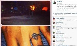 la foto dell'anello e della spiaggia pubblicate da Balotelli