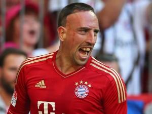 Franck Ribery con la divisa del Bayern Monaco
